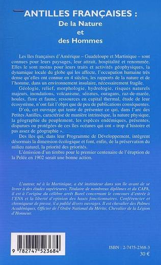 4eme ANTILLES FRANÇAISES : De la Nature et des Hommes