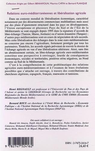 4eme RELATIONS EURO-MÉDITERRANÉENNES ET LIBÉRALISATION AGRICOLE