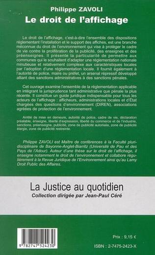 4eme LE DROIT DE L'AFFICHAGE