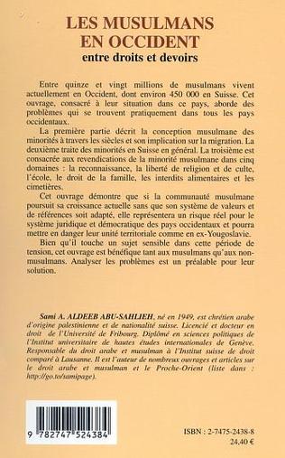 4eme LES MUSULMANS EN OCCIDENT