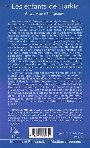 4eme LES ENFANTS DE HARKIS, DE LA RÉVOLTE À L'INTÉGRATION
