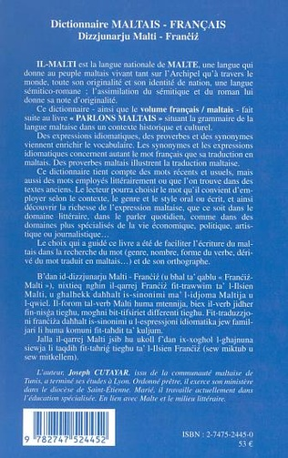 4eme Dictionnaire maltais-français