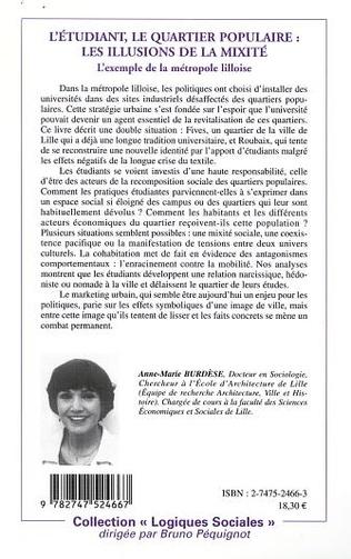 4eme L'ÉTUDIANT, LE QUARTIER POPULAIRE : LES ILLUSIONS DE LA MIXITÉ