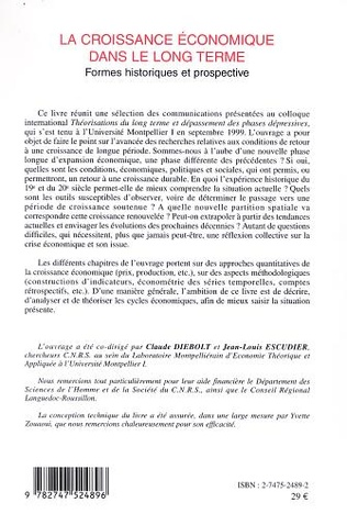 4eme LA CROISSANCE ECONOMIQUE DANS LE LONG TERME