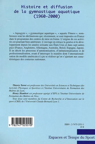 4eme HISTOIRE ET DIFFUSION DE LA GYMNASTIQUE AQUATIQUE (1960-2000)