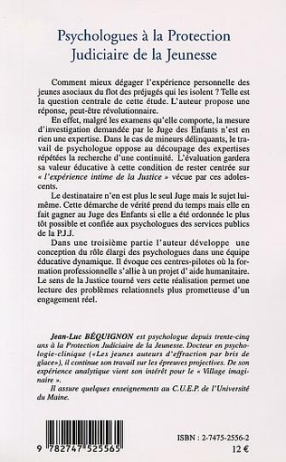 4eme PSYCHOLOGUES À LA PROTECTION JUDICIAIRE DE LA JEUNESSE