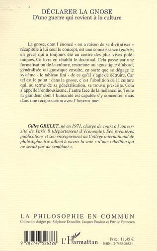 4eme DÉCLARER LA GNOSE