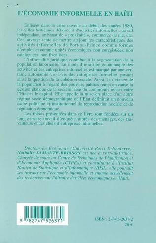 4eme L'ÉCONOMIE INFORMELLE EN HAÏTI