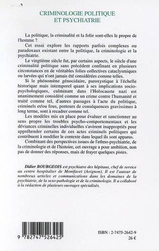 4eme CRIMINOLOGIE POLITIQUE ET PSYCHIATRIE