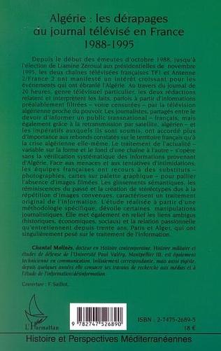 4eme ALGÉRIE : LES DÉRAPAGES DU JOURNAL TÉLÉVISÉ EN FRANCE (1988-1995)