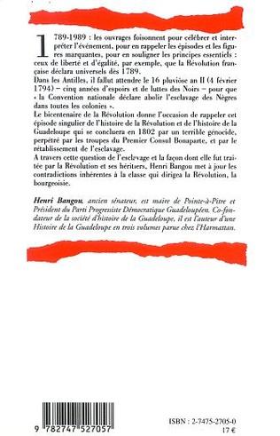 4eme LA RÉVOLUTION ET L'ESCLAVAGE À LA GUADELOUPE 1789-1802