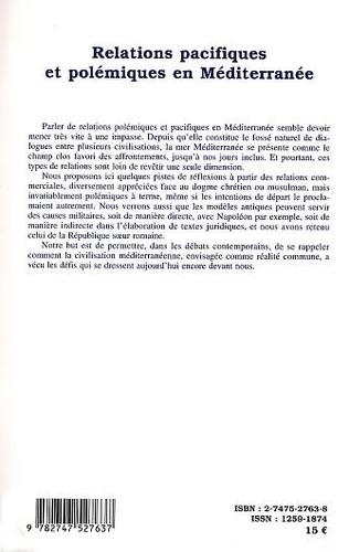 4eme RELATIONS PACIFIQUES ET POLÉMIQUES EN MÉDITERRANÉE