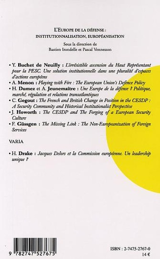 4eme THE CESDP AND THE FORGING OF A EUROPEAN SECURITY CULTURE