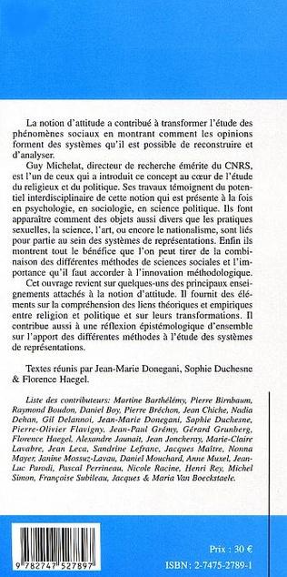 4eme AUX FRONTIÈRES DES ATTITUDES ENTRE LE POLITIQUE ET LE RELIGIEUX