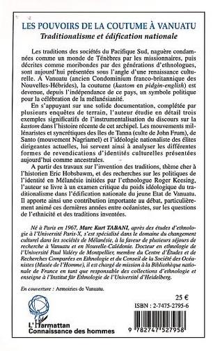 4eme LES POUVOIRS DE LA COUTUME À VANUATU