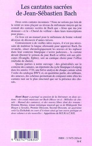 4eme LES CANTATES SACRÉES DE JEAN-SÉBASTIEN BACH