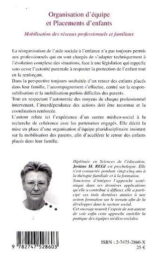 4eme ORGANISATION D'ÉQUIPE ET PLACEMENTS D'ENFANTS