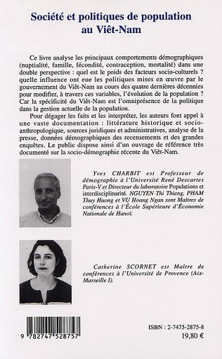 4eme SOCIÉTÉ ET POLITIQUES DE POPULATION AU VIÊT-NAM