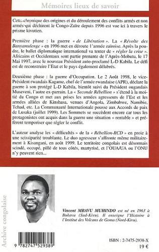 4eme Le Congo-Zaïre d'une guerre à l'autre, de Libération en Occupation