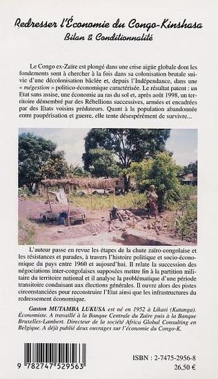4eme REDRESSER L' ECONOMIE DU CONGO-KINSHASA