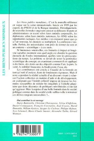 4eme LES BIENS PUBLICS MONDIAUX