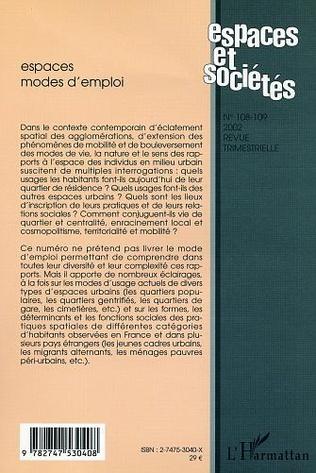 4eme ESPACES MODES D'EMPLOI (n°108-109)