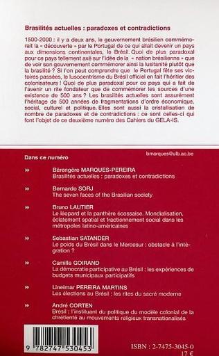 4eme BRASILITÉS ACTUELLES : PARADOXES ET CONTRADICTIONS