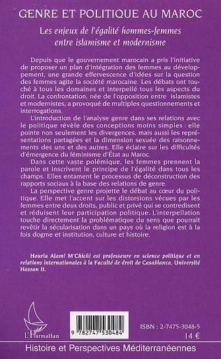 4eme GENRE ET POLITIQUE AU MAROC