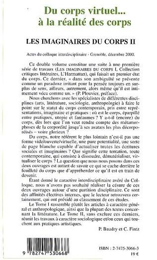 4eme DU CORPS VIRTUEL… À LA RÉALITÉ DES CORPS