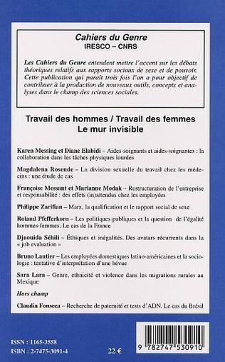 4eme TRAVAIL DES HOMMES, TRAVAIL DES FEMMES