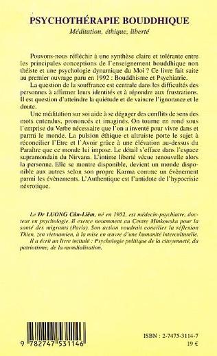 4eme PSYCHOTHERAPIE BOUDDHIQUE