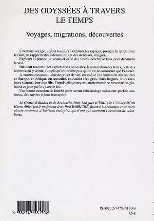 4eme DES ODYSSÉES À TRAVERS LE TEMPS