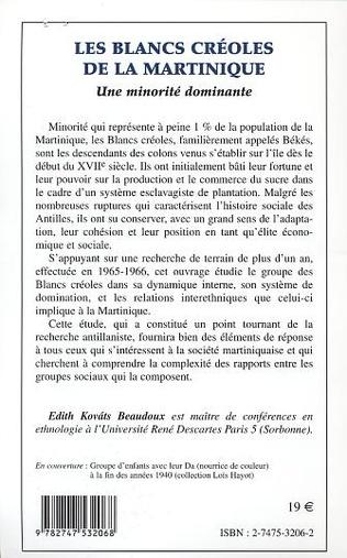 4eme LES BLANCS CREOLES DE LA MARTINIQUE