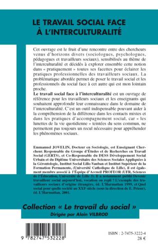 4eme LE TRAVAIL SOCIAL FACE À L'INTERCULTURALITÉ