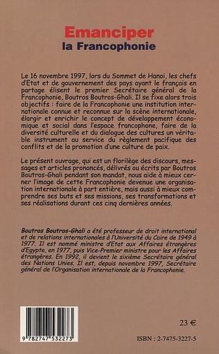 4eme ÉMANCIPER LA FRANCOPHONIE