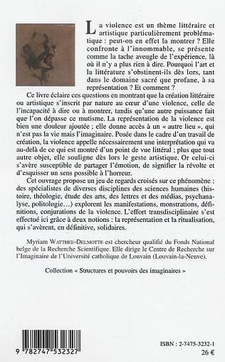 4eme La violence : représentations et ritualisations