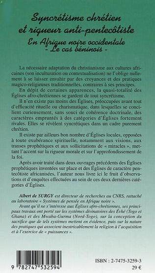 4eme SYNCRÉTISME CHRÉTIEN ET RIGUEUR ANTI-PENTECÔTISTE EN AFRIQUE NOIRE OCCIDENTALE