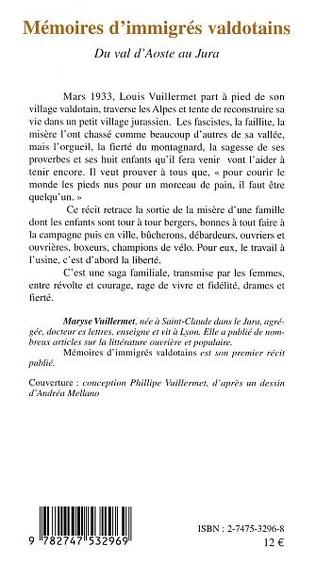 4eme MÉMOIRES D'IMMIGRÉS VALDOTAINS