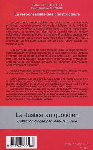 4eme LA RESPONSABILITÉ DES CONSTRUCTEURS