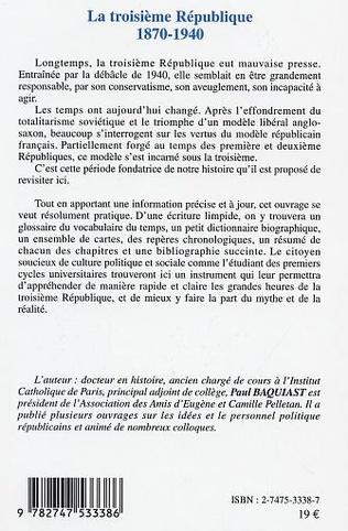 4eme LA TROISIÈME RÉPUBLIQUE 1870-1940