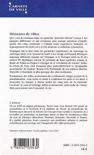 4eme MEMOIRES DE VILLES