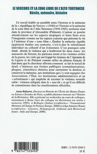 4eme LE VERCORS ET LA ZONE LIBRE DE L'ALTO TORTONESE