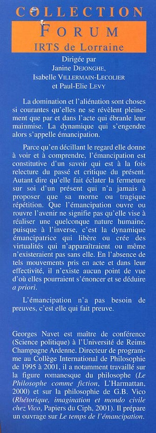 4eme L'ÉMANCIPATION