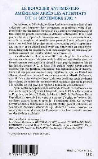4eme LE BOUCLIER ANTIMISSILES AMÉRICAIN APRÈS LES ATTENTATS DU 11 SEPTEMBRE 2001?