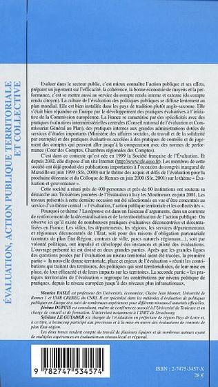 4eme EVALUATION, ACTION PUBLIQUE TERRITORIALE ET COLLECTIVE