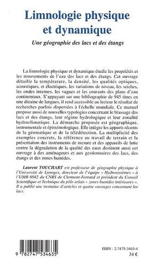 4eme LIMNOLOGIE PHYSIQUE ET DYNAMIQUE