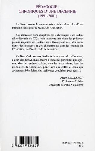 4eme Pédagogie: chroniques d'une décennie (1991-2001)