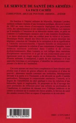 4eme LE SERVICE DE SANTÉ DES ARMÉES: LA FACE CACHÉE