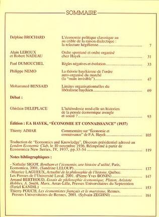 4eme HISTOIRE DE LA PENSEE ET THEORIE