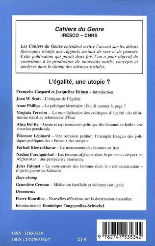 4eme L'EGALITE, UNE UTOPIE?